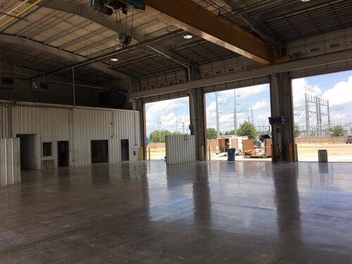 warehouse with epoxy floor