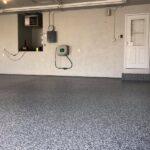 epoxy flake basement floor