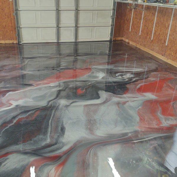 metallic epoxy garage floor
