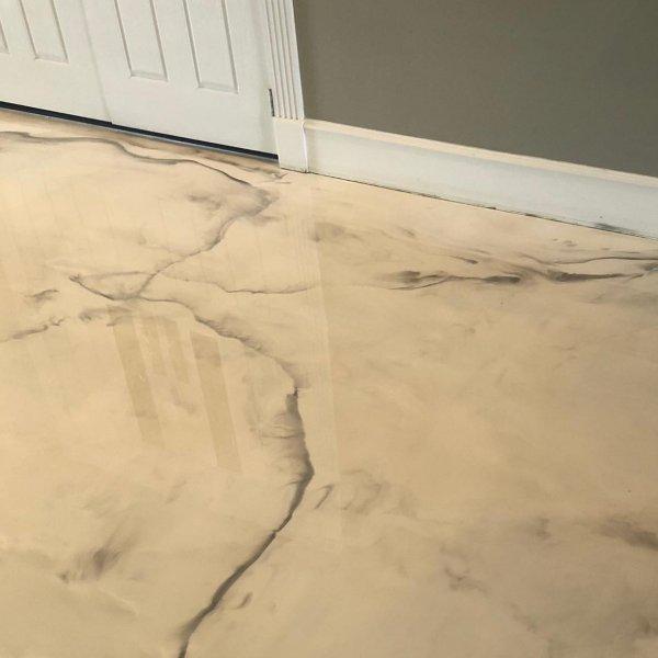 epoxy flooring with metallic epoxy